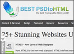 Best PSD to HTML screenshot
